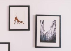 where to hang wall art