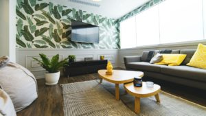 how to set up a feature wall