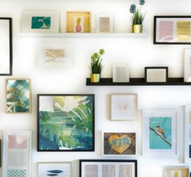 how to display artwork without damaging your walls